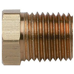 "FNPT Brass Reducer Fuel Fitting, 1/4"" NPT X 1/8"""