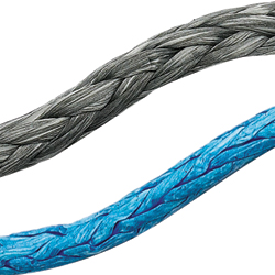 Ocean 3000 Dyneema Single Braid Line, Gray, 4mm, 3,840lb. Breaking Strength