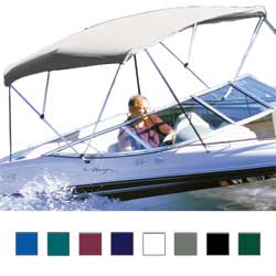 "Hot Shot Bimini BoaTops, 8' x 54"", White Vinyl (Top Only)"