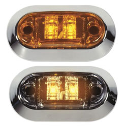 LED Mini Sidemarker/Clearance Lights, Amber LED