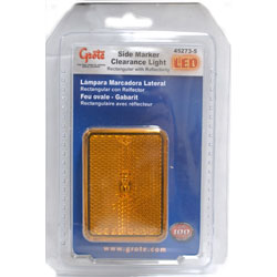LED Sidemarker Tongue Light , Amber
