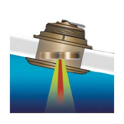 Bronze 20° Thru-hull Tilted Element Transducer, 1KWatts