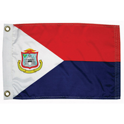 "St Maarten Courtesy Flag, 12"" x 18"""