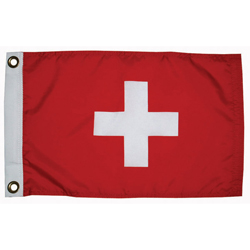"Switzerland Courtesy Flag, 12"" x 18"""