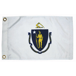 "Massachusetts State Flag, 12"" x 18"""