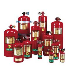 Fireboy Xintex MA2 Fire Extinguisher, HFC-227ea Suppression Agent, 1200cu.ft. Coverage, 10D x 28H, 78.6lb. Agent Weight