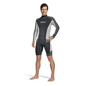 Men's Trilastic Long Sleeve Rashguards, Blue Fog
