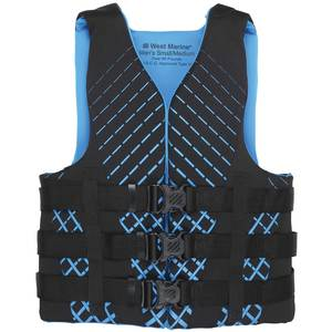 Men's Watersports Life Jackets, Black/Blue