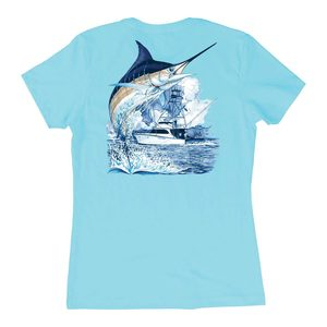 Women's Marlin Boat Short-Sleeved Tee