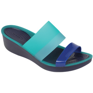 Womens's ColorBlock Translucent Mini Wedges