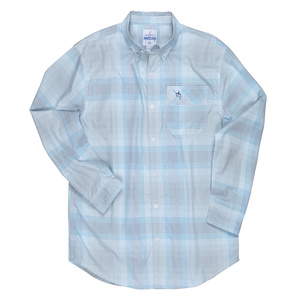 Men's Griddle Fish Long-Sleeve Woven Shirt