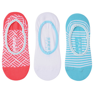 Women's Deck Tile Invisible Liner Socks 3-Pack