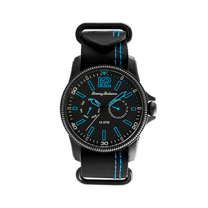 Paradise Pilot Watch, Black Face with Black Band