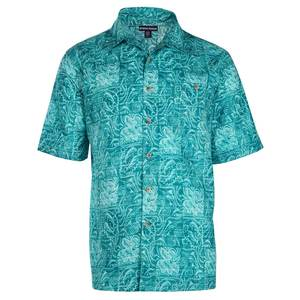 Men's Batik Fish Short-Sleeved Printed Woven