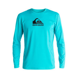 Men's Solid Streak Long Sleeve Rash Guard
