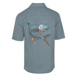 Men's Tarpon Action Bones Short Sleeve Woven Shirt