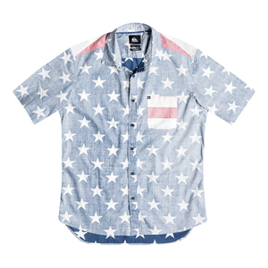 Men's Merican Short Sleeve Woven Shirt