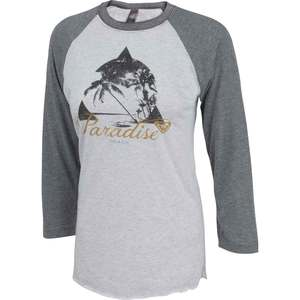 Women's Paradise Beach Baseball Raglan Shirt