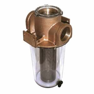 NPT ARG Raw Water Strainer, Stainless-Steel Basket