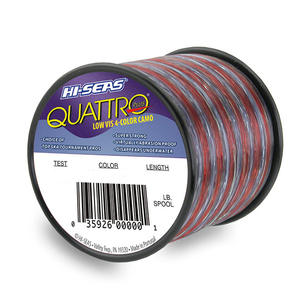 Quattro Plus Low-visibility Monofilament Line, 4-color Camo