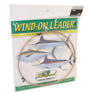Fluorocarbon Wind-On Leaders, Clear