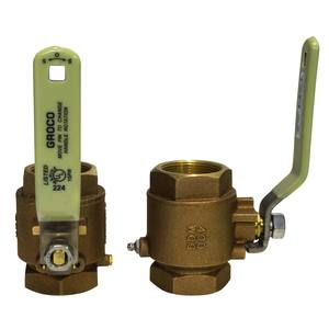 Full-Flow Bronze In-Line Ball Valve,  IBV Series