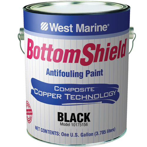 west marine bottomshield antifouling paint blue gallon