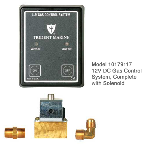 Trident Rubber 12V DC Gas Control System, Complete with Solenoid