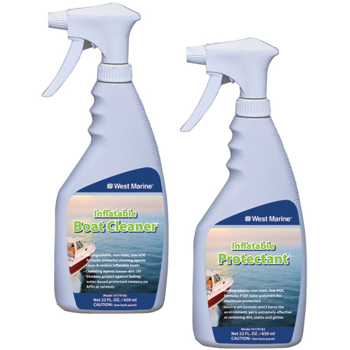 Two-Part Inflatable Boat Cleaner & Protectant