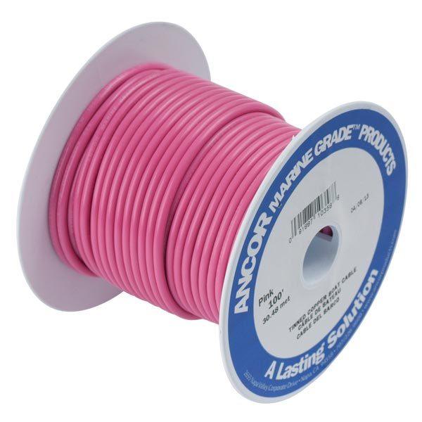 Ancor Gauge: 14 AWG; 100' Spool, Pink