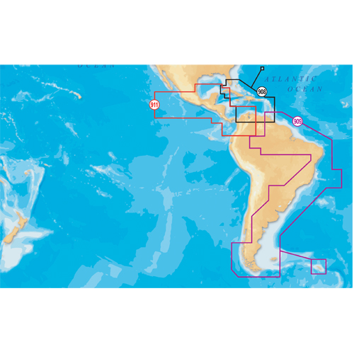 Navionics Platinum charts - South America East, CF/909P-2