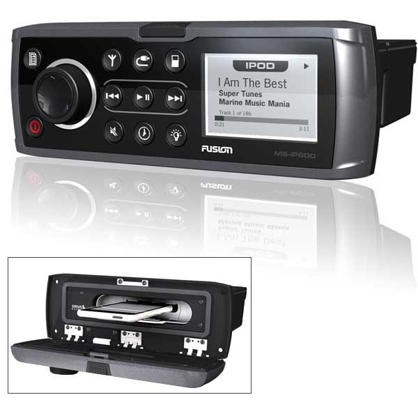 Fusion MS-IP600G True Marine Stereo with Built-in iPod Dock & Bluetooth Receiver