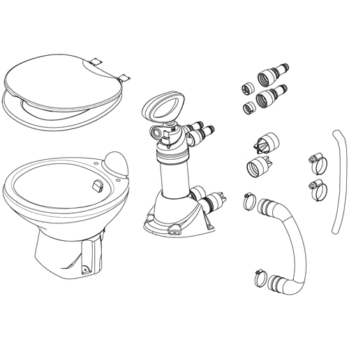 Thetford ComfortMate Pump Assembly Sale $154.99 SKU: 10286359 ID# 41154 UPC# 28985411543 :