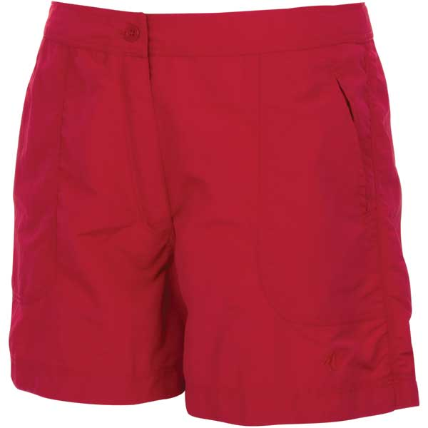 Women's Fishing Shorts, Red, 4