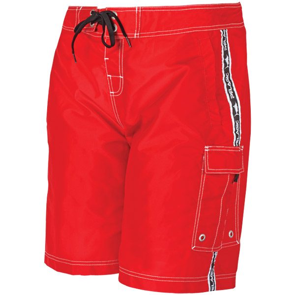 Men's Blackfin Board Shorts, Red, 32