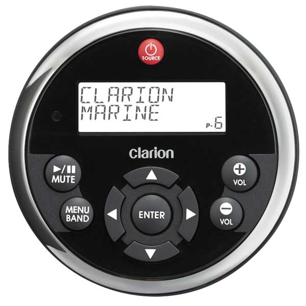 Clarion MW1 Watertight Marine Remote, 3 1/2 Diameter Sale $149.99 SKU: 10377778 ID# MW1R UPC# 852027000460 :