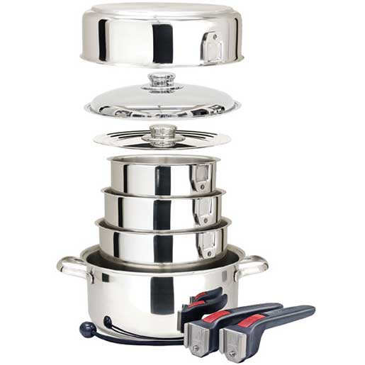 Magma Ten-Piece Stainless-Steel Nesting Cookware Set Sale $164.99 SKU: 10412153 ID# A10-360L UPC# 88379113606 :