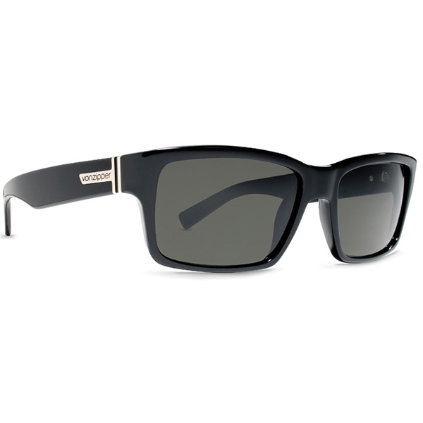 Vonzipper Fulton Sunglasses, Glossy Black/gray Frames with Gray Lenses
