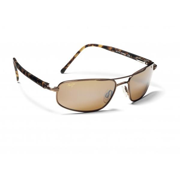 Maui Jim Kahuna Sunglasses, Metallic Glossy Copper Frames with HCL Bronze Lenses Brown