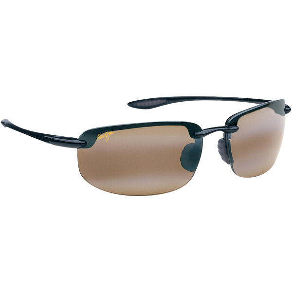 Maui Jim Ho'okipa Sunglasses, Glossy Black/brown Frames with HCL Bronze Lenses