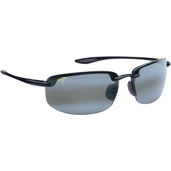 Maui Jim Ho'okipa Sunglasses, Glossy Black/gray Frames with Neutral Gray Lenses
