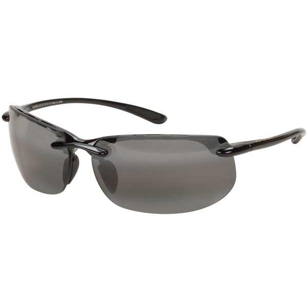 Maui Jim Banyans Sunglasses, Gloss Black/gray Frames with Neutral Gray Lenses