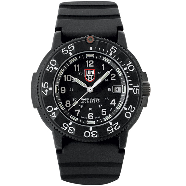 Luminox Original Navy Seal Dive 3000 Series Watch, Black