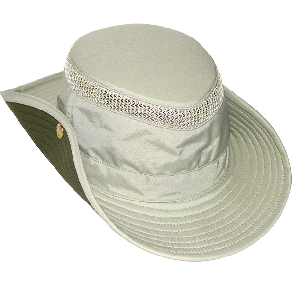 Tilley Airflo Aussie Hat, Khaki with Olive Under Brim, 7-1/4 Khaki_olive