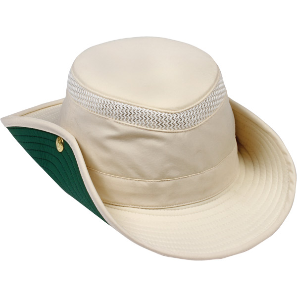 Tilley Airflo Aussie Hat, Natural with Green Under Brim, 7-1/2