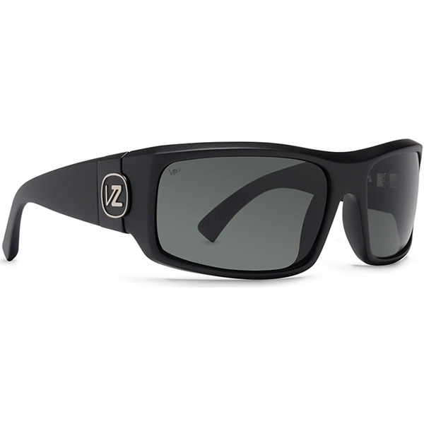 Vonzipper Kickstand Sunglasses, Glossy Black/gray Frames with Gray Polarized Lenses