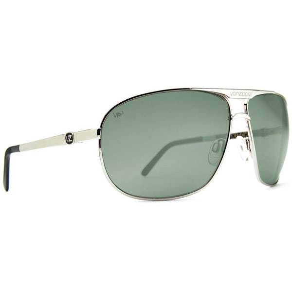 Vonzipper Skitch Sunglasses, Gray Frames with Gray Polarized Lenses