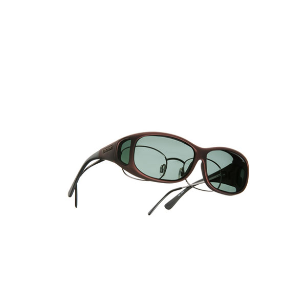 Cocoons Mini Slim Fitover Sunglasses, Burgundy Frames with Gray Lenses Brown/gray