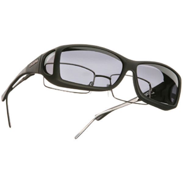 Cocoons Fitover Sunglasses, Black/gray Frames with Gray Lenses