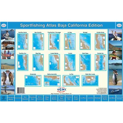 Baja Directions Sportfishing Atlas, Baja California Edition Sale $49.99 SKU: 10662088 ID# A002 UPC# 688306100022 :